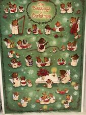 Hallmark The Blessings of Christmas Musical Bears and Bunnies Advent Calendar