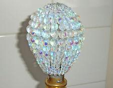 Ab Araña Vidrio Cristales Con Cuentas Pantalla Bombilla Luz Cubierta