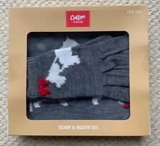 Cotton Traders Scarf and Gloves