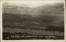 Northampton MA & River From Mt. Holyoke c1910 Real Photo Postcard