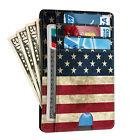 For Men Leather Wallet RFID Blocking Credit Card Holder ID Window Front Pocket