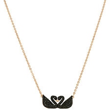Swarovski Iconic Swan Double Necklace - Black - 5296468