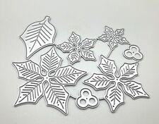 Poinsettia Metal layering Die Christmas Cutting DIY Scrapbooking Free Ship USA