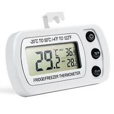 Digital LCD Fridge Freezer Refrigerator Waterproof  Thermometer Hang Hook Stand