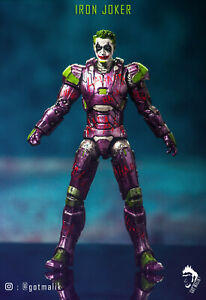 Custom Marvel Legends Iron Joker Tony Stark DC Action Figure