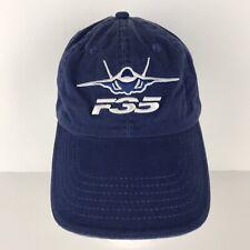 F-35 Lockhead Martin Baseball Cap Hat F35 Aircraft Plane, Blue White Embroidered
