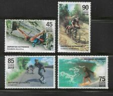 2019 Extreme Sports Bicycling Climbing Surfing LongboardCaribbean Island MNH Set