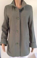 M&S Green Wool Mix Coat Size 14