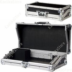 FLIGHT CASE per MIXER LUCI centralina DMX dj valigetta trasporto porta valigia