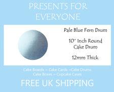 """2 x 10"""" Inch Round Pale Blue Wedding Birthday Cake Drum / Board 12mm"""