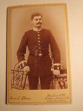 Berlin - stehender Soldat in Uniform - Eisenbahn-Regiment ?/ CDV
