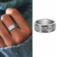 Wave Ring Stainless Steel Knuckle Ocean Wire Wrap Surf Rings Women Jewelry Gifts