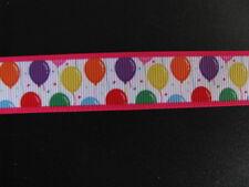 "balloon birthday grosgrain ribbon 7/8"" per 1 m hair scrapbooking card making"