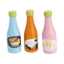 3pcs Pretend Role Play Seasoning Spices Bottles Wooden Kids Children Toy