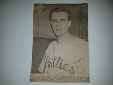 Ken Johnson 1950 Philadelphia Bulletin Pin-Up RARE!