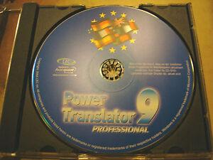 PowerTranslator 9 Pro Deutsch/English, English/Deutsch - Windows 98SE/ME/2000/XP