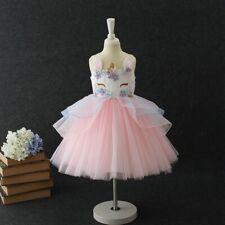 Vestido Tutú Niñas Princesa Unicornio Bebé Niño Fiesta De Cumpleaños Bodas Vestidos qu