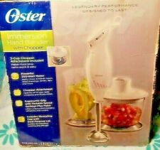 Oster 2-Speed Immersion Hand Blender with Food Chopper Attachment & Measuring