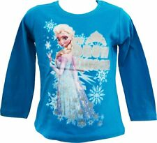 Official Disney Frozen Anna Elsa Long Sleeve top t shirt NEW 2 - 10 years tee