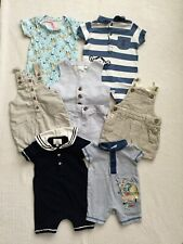 BABY BOYS 0-3 MONTHS SUMMER SHORT DUNGAREES, ROMPERS BUNDLE  COMBINED POST