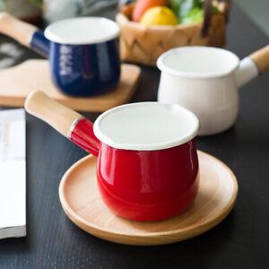 Yutaka Horo Enamel mini milk pan, Milk warmer, Coffee Warmer 550ml Made In Japan