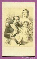 CDV FAMILLE IMPÉRIALE , NAPOLÉON III , IMPÉRATRICE EUGÉNIE & LE JEUNE PRINCE-E55