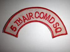 Vietnam War US Air Force 5th AIR COMMANDO Squadron PSYOP Shoulder Arc Patch