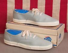 Vintage 1960s Keds Champion Oxford Canvas Sneakers Sky Blue NOS Shoes w/Box Sz.8