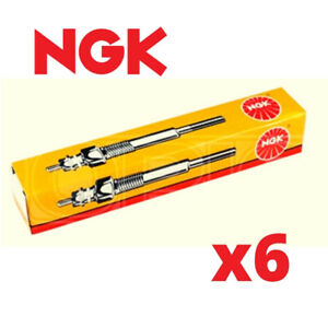 6x NGK Glow Plugs for BMW X3 E83 3.0 04->11 30d 35d E83