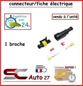 connecteur / fiche électrique étanche pour 1 branchement