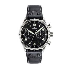 AUTHORIZED DEALER Junghans 027/3590.00 Meister Pilot Chronscope Leather Watch
