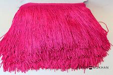 "1 yard 6"" Pink Rose Chainette Fringe Dance Costume Trim"