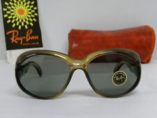New Vintage Women B&L Ray Ban Bryce Taupe L5454 Olive Green Butterfly USA