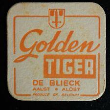 Sous-bock Golden Tiger De Bliek Aalst bierviltje bierdeckel coaster