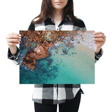 A3 - Clear Blue Sea Rocks Beach Poster 42X29.7cm280gsm #44624
