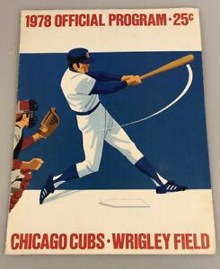 Chicago Cubs • Wrigley Field, 1978 Official Program/Scorecard Baseball Magazine