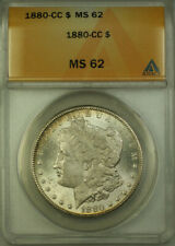 1880-CC Morgan Silver Dollar $1 ANACS MS 62 (BCX)