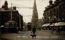 Lowestoft. Pier Terrace & St John's Church. Tram.