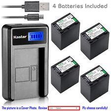 Kastar Battery LCD Charger for Sony NP-FH100 & DCR-DVD705 DCR-DVD708 DCR-DVD710