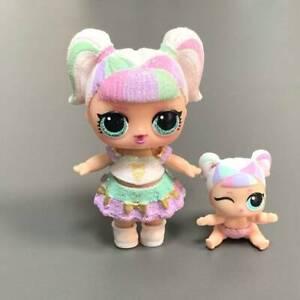 2Pcs Ultra Rare LOL Surprise Sparkle Series Unicorn Doll Glitter& Lil Sister Toy