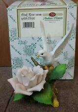 """Vintage Andrea by Sadek """"Pink Rose with Dove� Porcelain Figurine"""
