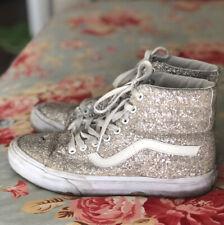 TRASHED Vans Glitter Hi Top Shoes Womens 9 USED Broken Old Destroyed Worn Out
