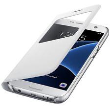 Original Samsung S-View Cover Schutz Hülle EF-CG930 für Galaxy S7 G930F Weiß