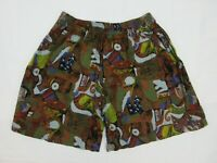 Vintage Mens Board Shorts Size M Beach 90s Bright Loud Surfing Sports Mambo