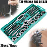 12PCS/20PCS METRIC TAP WRENCH AND DIE CUTTER SET IN STORAGE CASE SIZE M3-M12 NEW
