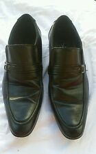 Majestic Collection Men's Black Leather Dress Shoes Slip On Loafers Sz 11