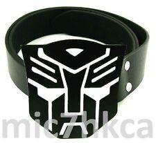 Fancy dress TRANSFORMERS big buckle black leather belt (BLACK & WHITE)