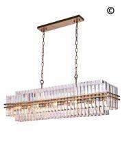 Ashton Chandelier Pendant - 120 cm Bar Light - Antique Gold Finish