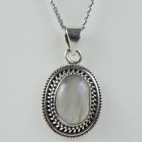 Details about  /Solid 925 Sterling Silver Rainbow Moonstone Pendant Necklace Women PSV-1757