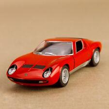 1971 Lamborghini Miura 9700 sv Red 1:34 Scale 12cm Die-Cast Pull-Back Model Car